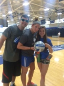 Kenz and I with a participant at the 4v4 tournament
